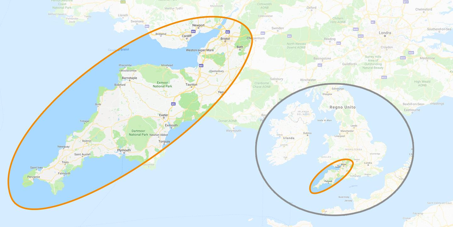 Cartina Cornovaglia.Mappa Cornovaglia Fotocorsi