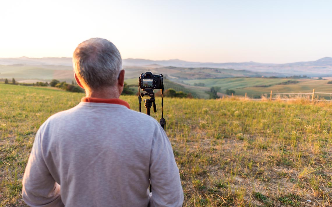 Val Orcia Toscana Nikon School Workshop Paesaggio Notturna Via Lattea Startrail 00055