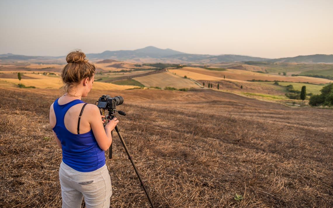 Val Orcia Toscana Nikon School Workshop Paesaggio Notturna Via Lattea Startrail 00058