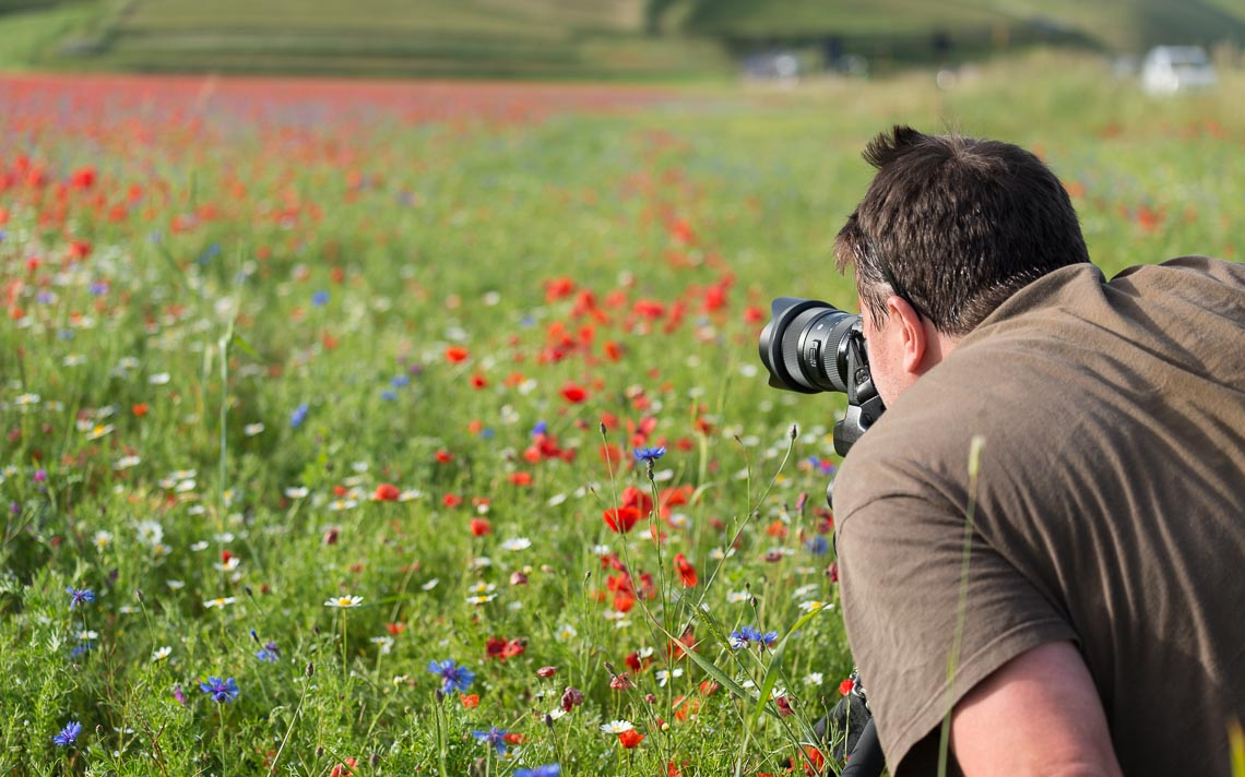 Castelluccio Fioritura Nikon School Workshop Paesaggio Notturna Via Lattea Startrail 00003