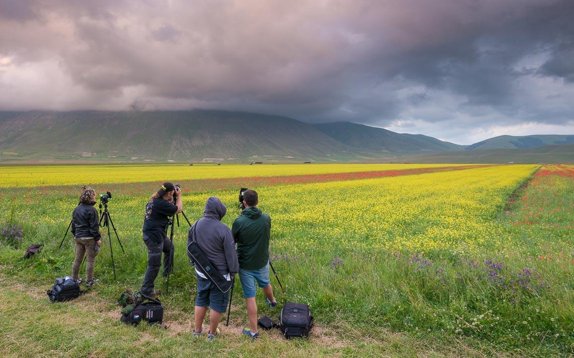 Castelluccio Fioritura Nikon School Workshop Paesaggio Notturna Via Lattea Startrail 00014