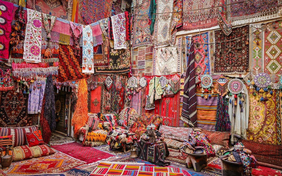 Turkish Traditional Carpets In Goreme, Nevsehir, Turkey