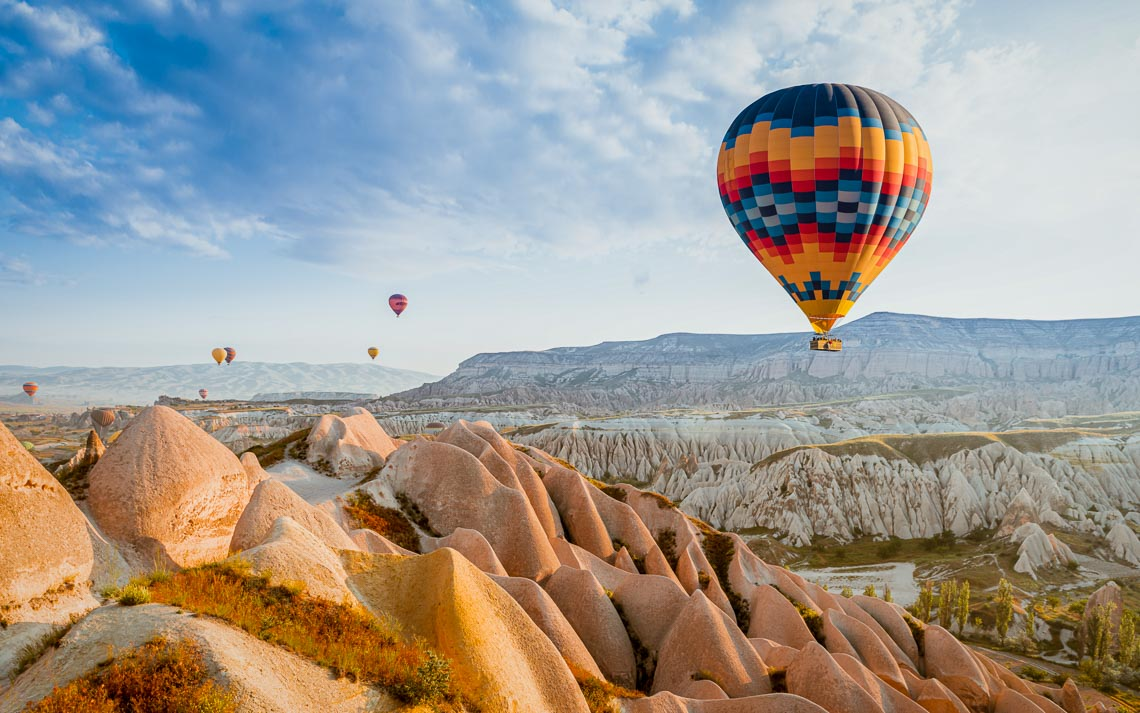 Great Tourist Attraction Of Cappadocia Balloon Flight. Cappadoci
