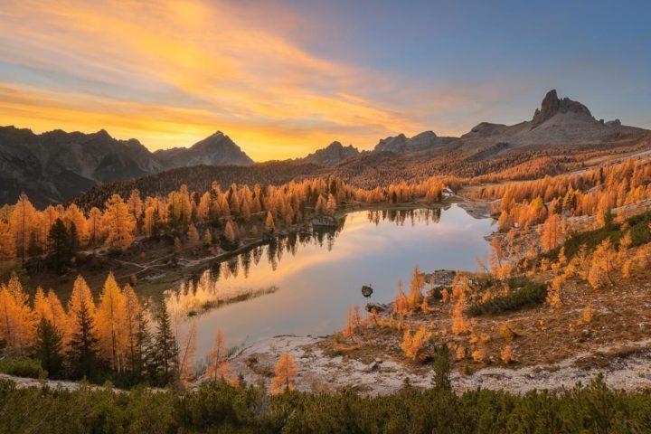 Dolomiti Foliage Autunno Nikon School Workshop Paesaggio Notturna Via Lattea Startrail 00007
