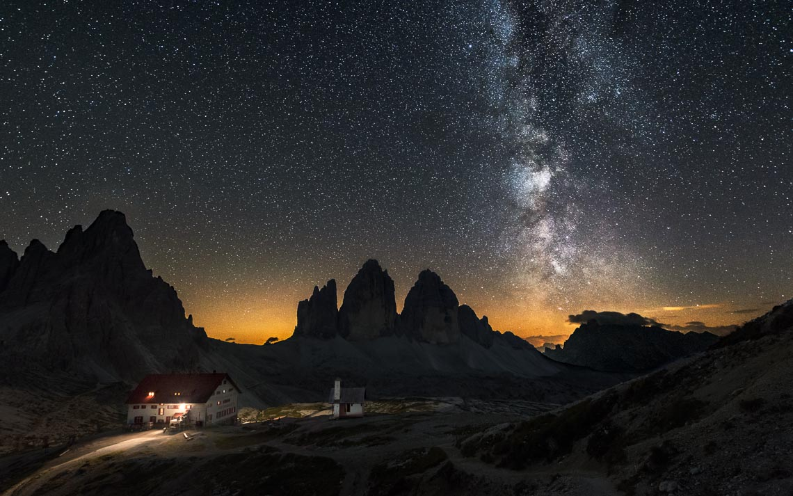 Dolomiti Nikon School Workshop Paesaggio Notturna Via Lattea Startrail 00060