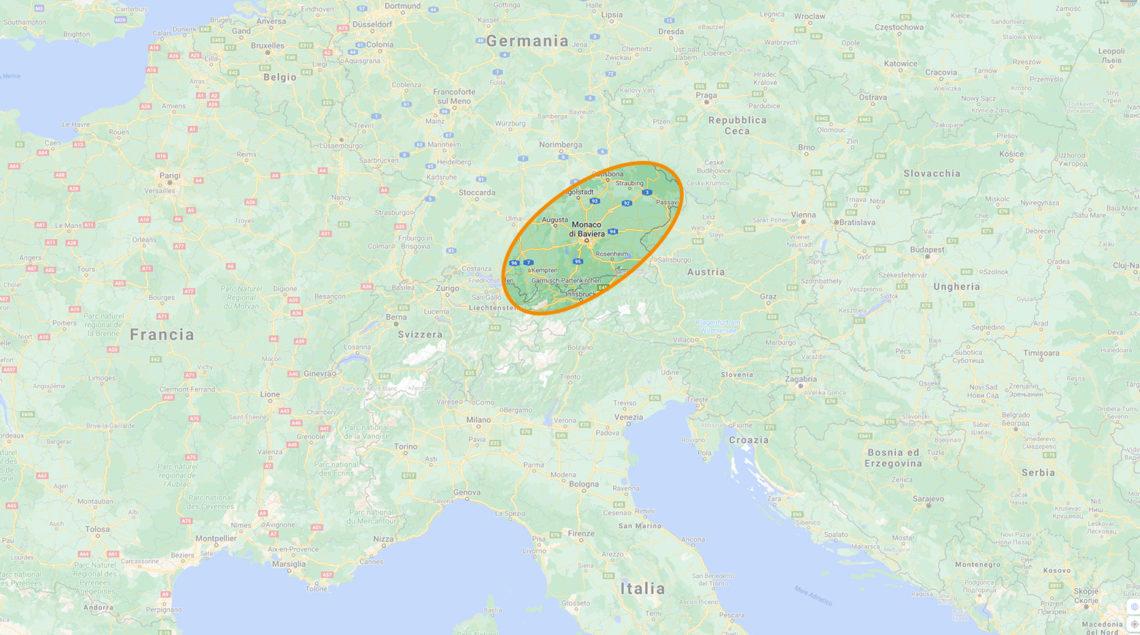 Mappa Baviera