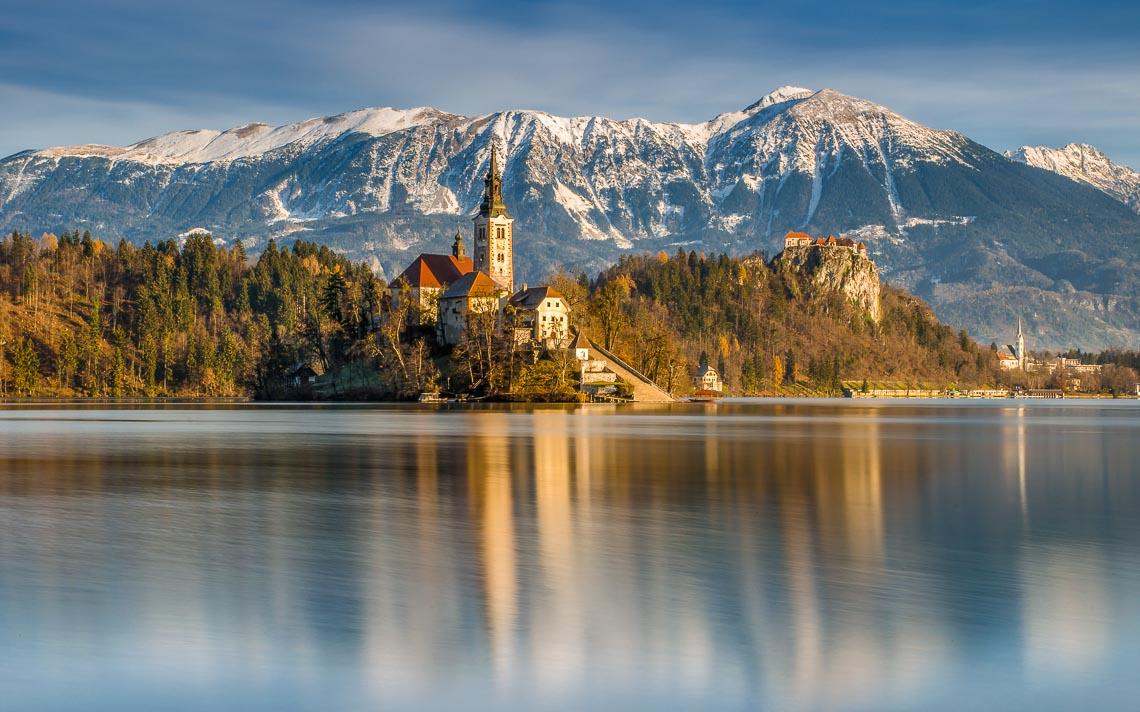 Lake Bled, Julian Alps, Slovenia, Between Autumn And Winter.