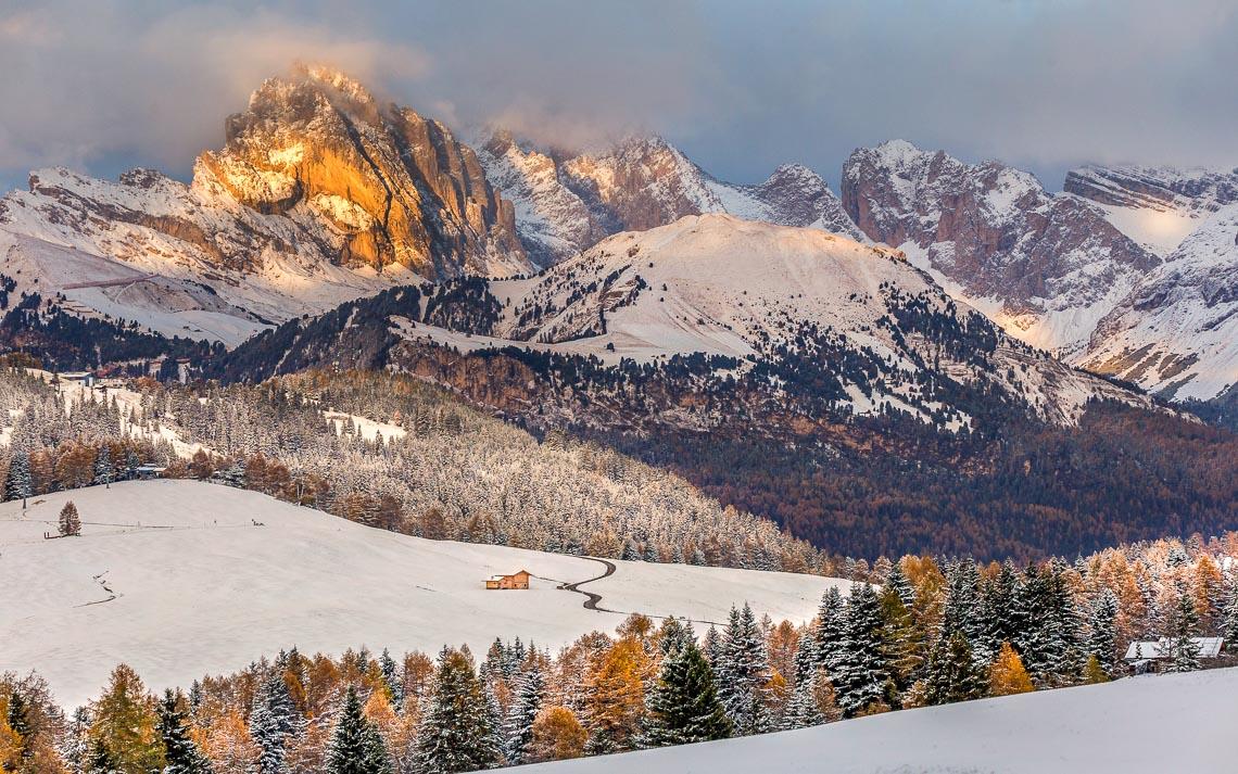 Dolomiti Alpe Siusi Inverno Nikon School Workshop Paesaggio Notturna Via Lattea Startrail 00005