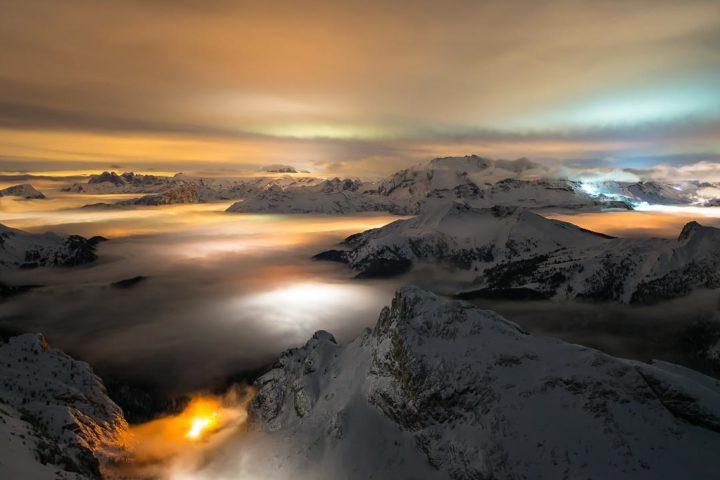 Dolomiti Inverno Braies Giau Anterselva Nikon School Workshop Paesaggio Notturna Via Lattea Startrail 0000800008