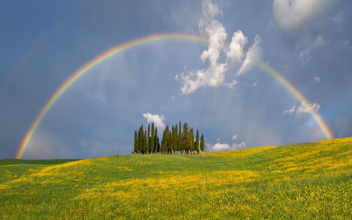 Val Orcia Toscana Nikon School Workshop Paesaggio Notturna Via Lattea Startrail 00079