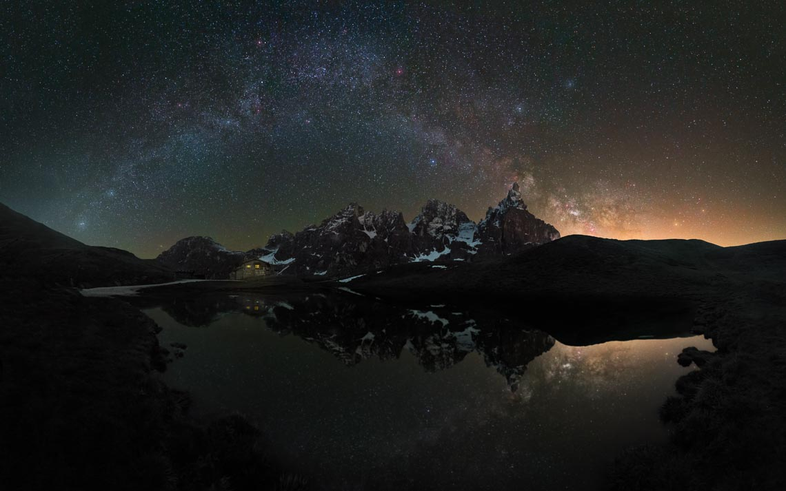 Dolomiti Nikon School Workshop Paesaggio Notturna Via Lattea Startrail 00051