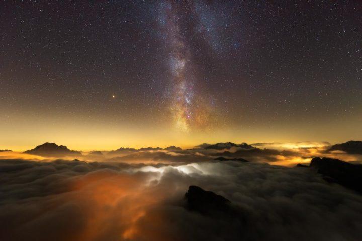 Dolomiti Nikon School Workshop Paesaggio Notturna Via Lattea Startrail 00068