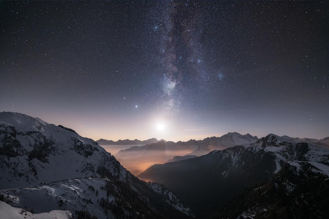 Dolomiti Foliage Autunno Nikon School Workshop Paesaggio Notturna Via Lattea Startrail 00010