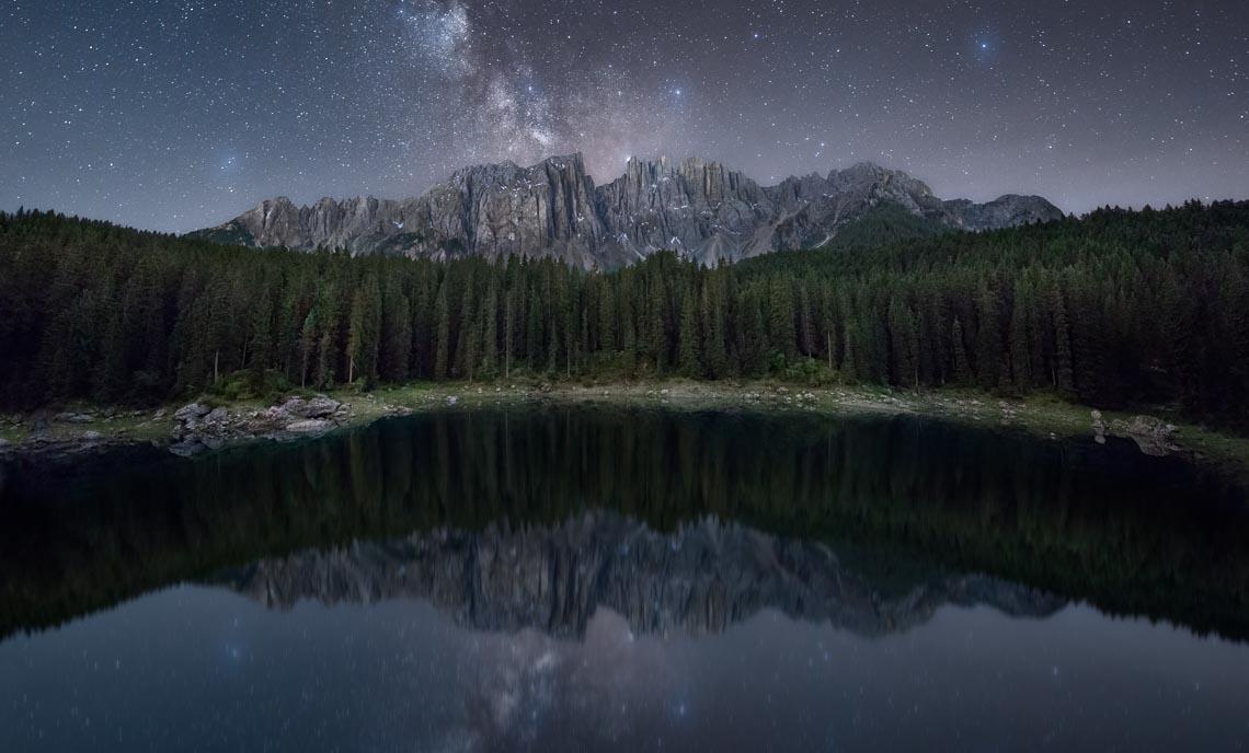 Dolomiti Nikon School Workshop Paesaggio Notturna Via Lattea Startrail 00052