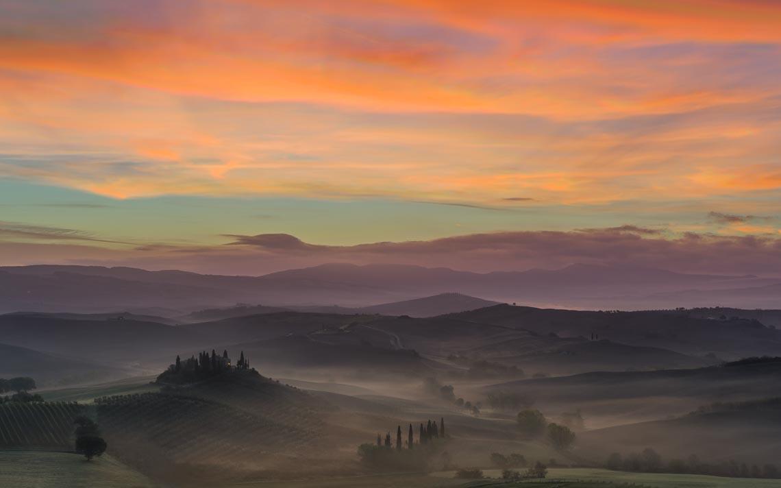 Val Orcia Toscana Nikon School Workshop Paesaggio Notturna Via Lattea Startrail 00022